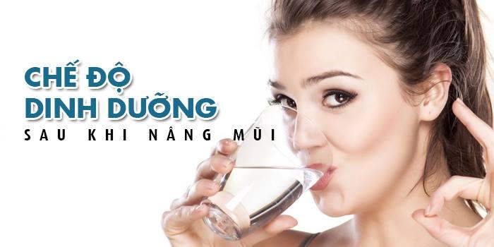 chế độ dinh dưỡng sau nâng mũi